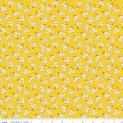 Ditsy Yellow Hope Chest Penny Rose fabrics - per quarter metre